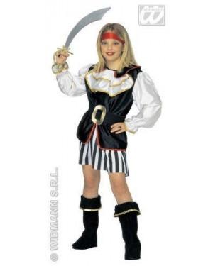 Costume Piratessa Con Accessori 5/7 Cm 128