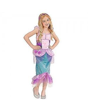 Costume Sirenetta 8/10 Vestito, Cerchietto Con Ste