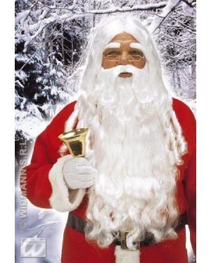widmann x1524 parrucca babbo natale lusso+barba lunga+baf+sop