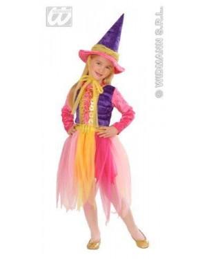 Costume Strega 1/2 2/3 Bambina Colorato