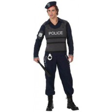 ATOSA 10279 costume polizia c/giubbotto antiproiettili t-2