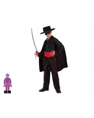ATOSA 98449 costume zorro camicia nera 10-12 c/access