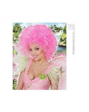 WIDMANN 6390P parrucche fatina rosa fluorescente-sacchetto