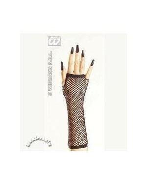 widmann 1475n guanti a rete senza dita neri cm33