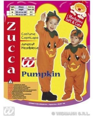 Costume Zucca 2/3 3/4 Con Copricapo