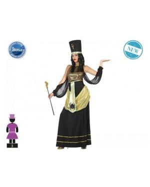 ATOSA 54444 costume egizia cleopatra t-2 nera
