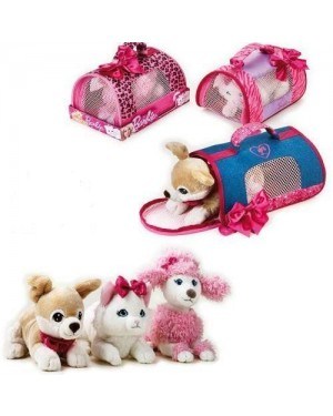 venturelli 770403 peluche barbie pets carry bag