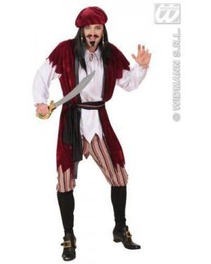 Costume Pirata Dei Caraibi Xl Camicia Con Gilet-P