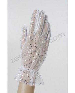 widmann 1469e guanti bianchi a rete con paillettes 25 cm