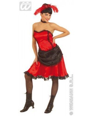 Costume Dama Del Saloon L In Raso