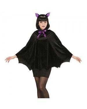 WIDMANN 96893 costume pipistrello donna poncho c/cappuccio