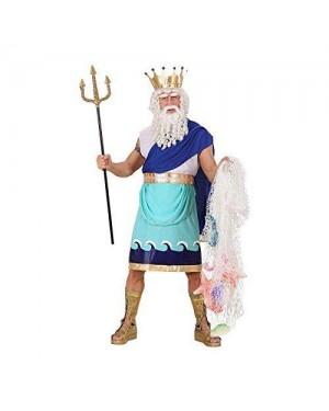 WIDMANN 7427N costume poseidone xl tunica con corona