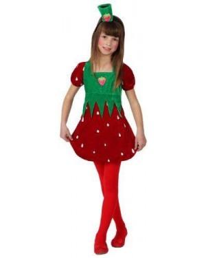 Costume Fragola Bambina T. 3
