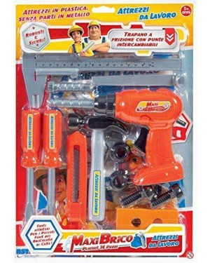 RSTOYS 10286 rstoys blister accessori lavoro cantiere