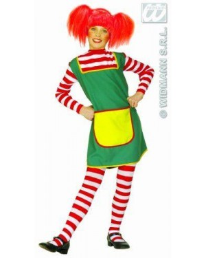 Costume Pippi Calzelunghe 8/10 Cm 140