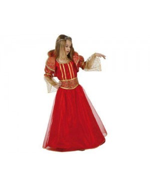 Costume Da Regina Rosso 7-9 Anni