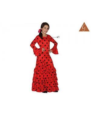 ATOSA 26531 costume flamenca rosso spagnola t-2 5/6
