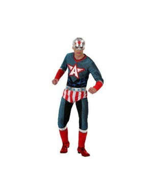 Costume Super Eroe Adulto Tg 2 M/L Capit America