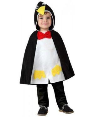 Costume Poncho Pinguino Bebe Tg Unica