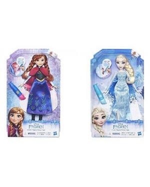 HASBRO B6699EU4 frozen bambola cambia colore asst anna o elsa