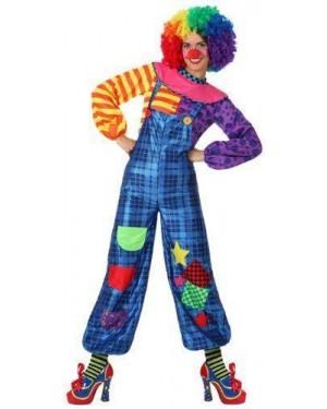 Costume Clown Tg 4 Xl Donna Pagliaccia