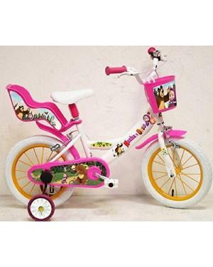 MONDO 25297 bicicletta 14 masha e l'orso 4/7 anni