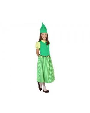 Costume Folletto Bimba T3 7-9 Anni