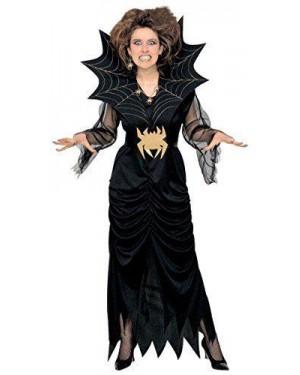 Costume Strega Spiderlady Xl C/Cint. E Collare