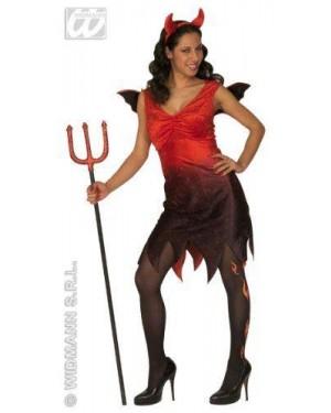 Costume Diavolessa M Con Ali E Corna