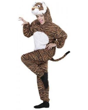 Costume Tigre Peluche Xl Cappuccio Maschera
