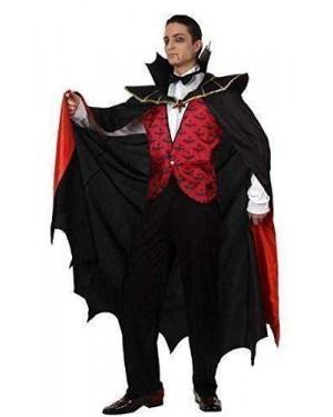 Costume Da Vampiro Rosso Adulto