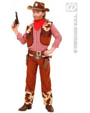 Costume Cowboy 8/10 Cm 140 Camicia Gilet Pantal