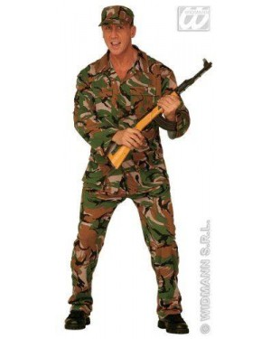 Costume Soldato Mimetica G.I.Joe Xl