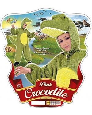 Costume Coccodrillo 3/5 Cm 113 In Peluche Con Capp