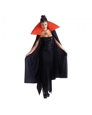 CARNIVAL TOYS 29205 mantello nero c/bavero rosso in maglino