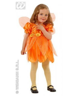 Costume Fatina Dei Fiori Arancione 1/2 2/3