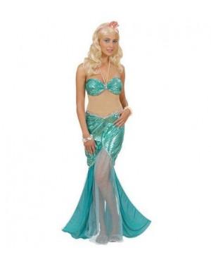 Costume Sirena M Vestito Con Collana Di Perle