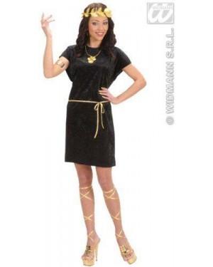 Costume Tunica Nera S Con Cintura Oro