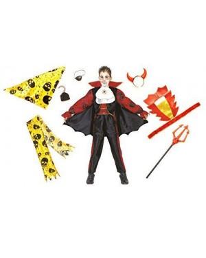 Costume Diavolo Vampiro Pirata 4/6 Tre In Uno