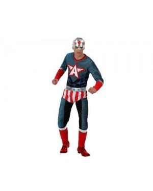 Costume Super Eroe Adulto Tg 3 Xl Capit America