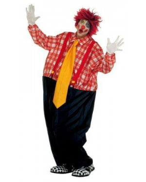 Clown Grassone Costume Con Cerchio,Bretelle,