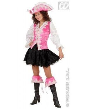 WIDMANN 5798P costume piratessa regale rosa m in velluto