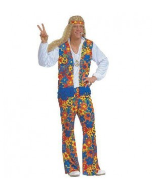 WIDMANN 3125U costume hippie figlio dei fiori xl