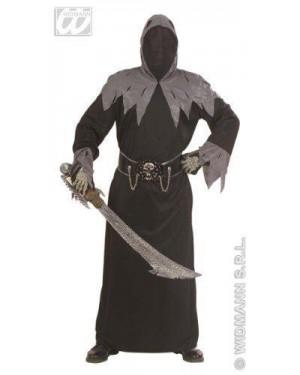 Costume Skull Warlord Xl Tunica C/Cappuccio