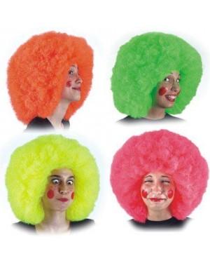 CARNIVAL TOYS 02528 parrucca clown fluorescente col. ass. in valigetta
