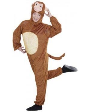Costume Scimmia Peluche Xl Cappuccio Maschera