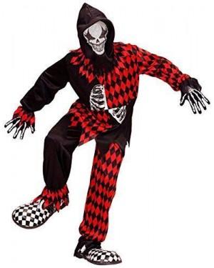 WIDMANN 08746 costume evil jester clown rosso nero 5/7