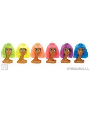 WIDMANN 6050D parrucca clown liscia colori assortiti