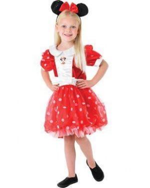 RUBIES 883865 costume minnie 5/6 rossa disney