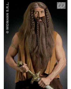 widmann b6334 parrucca barbaro con barba e baffi